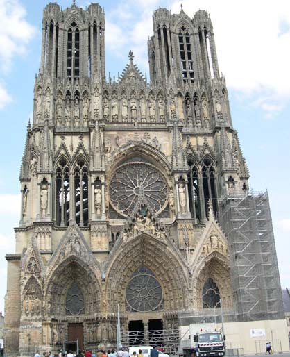 Cathedrale gothique reims images - Une cathedrale gothique ...